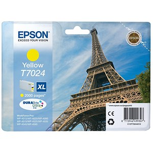 Image of Epson T7024 XL High Capacity Yellow Inkjet Cartridge