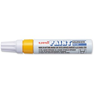 Image of uni Paint Marker PX30 / Chisel Tip / Yellow / Pack of 6