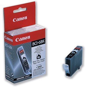 Image of Canon BCI-6BK Black Inkjet Cartridge