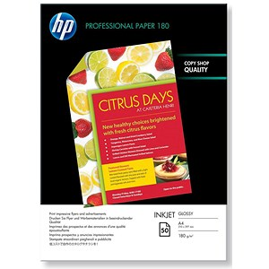 Image of HP A4 Superior Double-Sided Glossy Inkjet Photo Paper / White / 180gsm / Pack of 50
