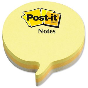 Image of Post-it Speech Bubble Notes / Yellow & Grey / 225 Notes