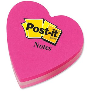 Heart shaped post-it notes