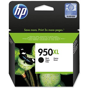Image of HP 950XL High Yield Black Ink Cartridge