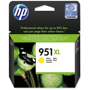 Image of HP 951XL High Yield Yellow Ink Cartridge