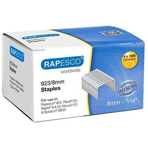 Image of Rapesco 923/8mm Heavy Duty Staples - Box of 4000
