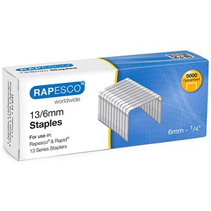 Image of Rapesco 13/6 Tacker Staples - Pack of 5000