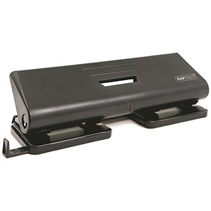 Image of Rapesco 75P 4-Hole Punch / Black / Punch capacity: 16 Sheets