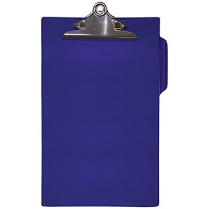 Image of 5 Star Heavy Duty PVC Finish Clipboard / Foolscap / Blue