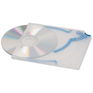 Image of Durable CD Quickflip Standard Slimline Case for 1 Disk / Translucent / Pack of 5