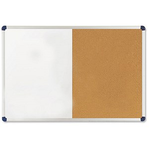 Image of Nobo Classic Combination Board / Cork & Drywipe / W1200xH900mm