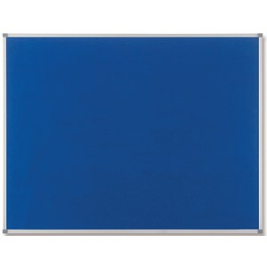 Image of Nobo Classic Noticeboard / Felt / Aluminium Trim / W900xH600mm / Blue