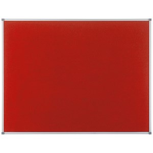 Image of Nobo Classic Noticeboard / Felt / Aluminium Frame / W900xH600mm / Red