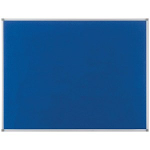 Image of Nobo Classic Noticeboard / Felt / Aluminium Trim / W1200xH900mm / Blue