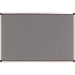 Image of Nobo Classic Noticeboard / Felt / Aluminium Trim / W1200xH900mm / Grey
