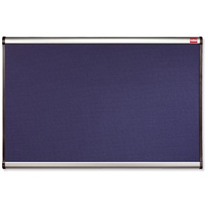 Image of Nobo Prestige Noticeboard / Diamond Mesh / Aluminium Trim / W900xH600mm / Blue
