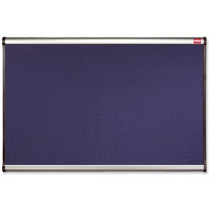 Image of Nobo Prestige Noticeboard / Diamond Mesh / Aluminium Trim / W1200xH900mm / Blue