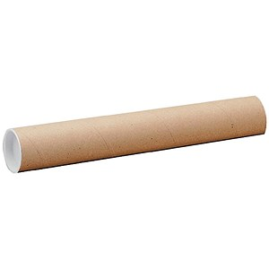 Image of Cardboard Postal Tube with Plastic End Caps / L610xDia.76mm / Pack of 12