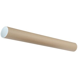 Image of Cardboard Postal Tube with Plastic End Caps / L760xDia.76mm / Pack of 12