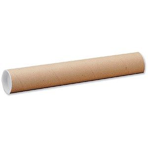 Image of Cardboard Postal Tube with Plastic End Caps / L940xDia.76mm / Pack of 12