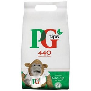 Image of PG Tips 1 Cup Pyramid Tea Bags - Pack of 460
