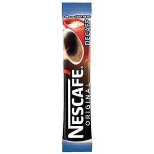 Image of Nescafe Original Instant Decaffeinated Coffee Granules / Stick Sachets / Pack of 200