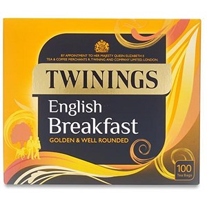 Image of Twinings Fine English Breakfast Tea Bags - Pack of 100