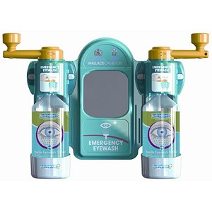 Image of Wallace Cameron Eyewash Station Standard Mirror 2x Eyewash Bottle Ref 2402057