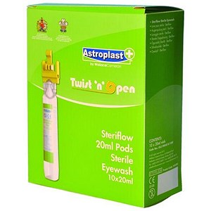 Image of Wallace Cameron Steriflow Eyewash Pods / Twist & Open / Refill / 20ml / Pack of 10