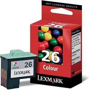 Image of Lexmark 26 Colour Inkjet Cartridge