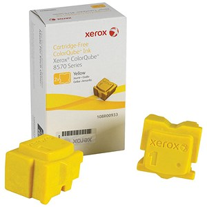 Image of Xerox ColorQube 8570 Yellow Solid Ink Sticks (Twinpack)