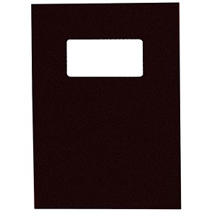 Image of GBC Binding Covers with Window / 250gsm / Black / A4 / Leathergrain / Pack of 25 Pairs