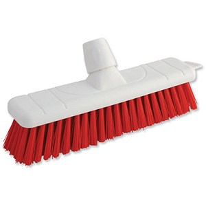 Image of Bentley Colour Coded Soft Broom / 12 Inch Head / Red