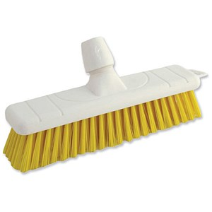 Image of Bentley Colour Coded Soft Broom / 12 Inch Head / Yellow