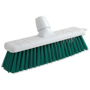 Image of Bentley Colour Coded Stiff Broom / 12 Inch Head / Green