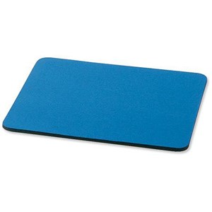Image of 5 Star Mouse Mat / Rubber Sponge Backing / W248xD220mm / Blue