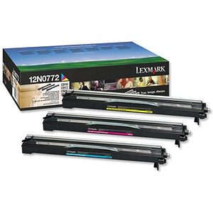 Image of Lexmark 12N0772 Photo Developer Set - Cyan, Magenta and Yellow (3 Cartridges)