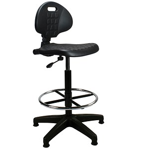 Image of Trexus Lab High Chair Gas Lift Back - Black