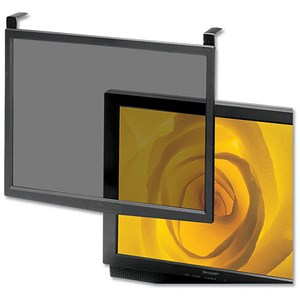 Image of Screen Glass Filter / Anti-Glare-Radiation-Static / CRT & LCD / 16-17 inch / Black Frame