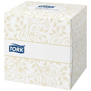 Image of Tork Facial Tissues Cubes / 2-Ply / White / 100 Sheets per Cube / 30 Cubes