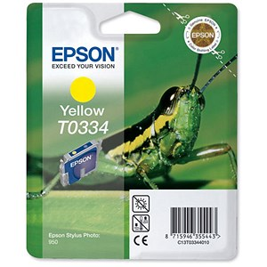 Image of Epson T0334 Yellow Inkjet Cartridge