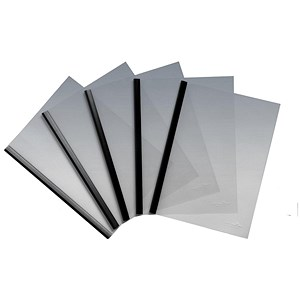 Image of Durable Report Cover Combi Pack / 6mm / Spinebar for up to 60 A4 Sheets / Black / Pack of 100