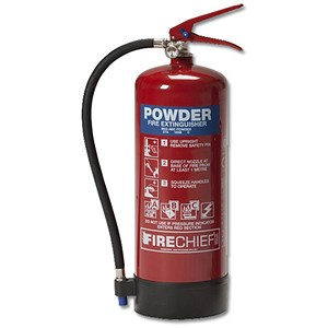 Image of IVG Firechief Fire Extinguisher Refillable Dry Powder for Class A and B and C 6kg Ref IVGS6.0KG