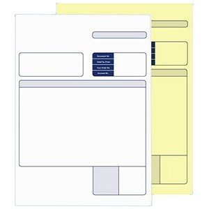 Image of Sage Compatible Multipurpose Form / 2 Part / White & Yellow / Laser or Inkjet / Pack of 500