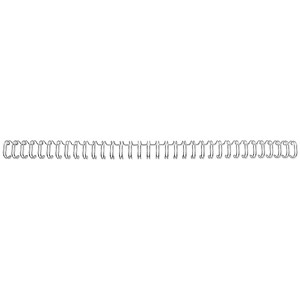 Image of GBC Binding Wire Elements / 34 Loop / 6mm / Silver / Pack of 100