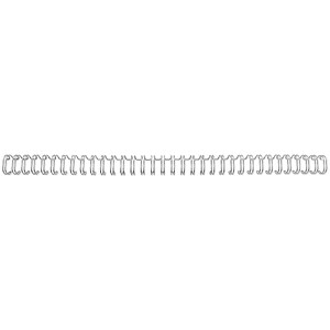 Image of GBC Binding Wire Elements / 34 Loop / 8mm / Silver / Pack of 100