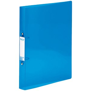 Image of Elba Snap Ring Binder / 2 O-Ring / 40mm Spine / 25mm Capacity / A4 / Blue / Pack of 10