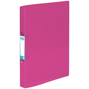 Image of Elba Snap Ring Binder / 2 O-Ring / 40mm Spine / 25mm Capacity / A4 / Purple / Pack of 10