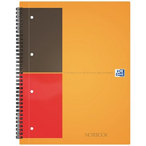 Image of Oxford International Classic Notebook / A4+ / Ruled & Perforated / 160 Pages / Pack of 5