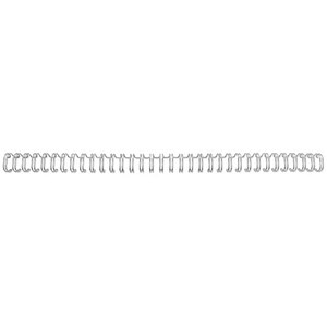 Image of GBC Binding Wire Elements / 34 Loop / 9.5mm / Silver / Pack of 100