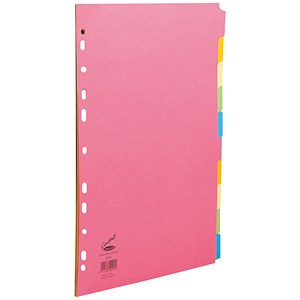 Image of Concord Contrast File Dividers / Extra Wide / 10-Part / A4 / Assorted